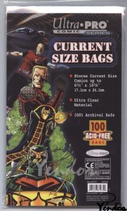 Current size comic bags