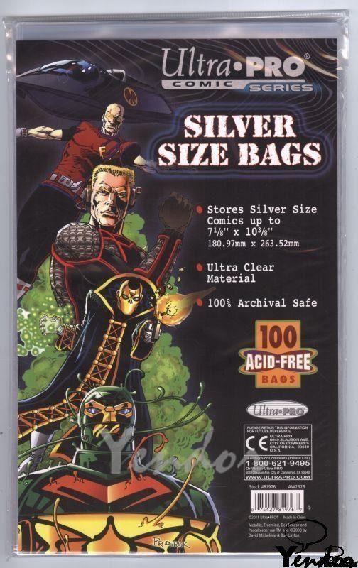Silver size comic bags