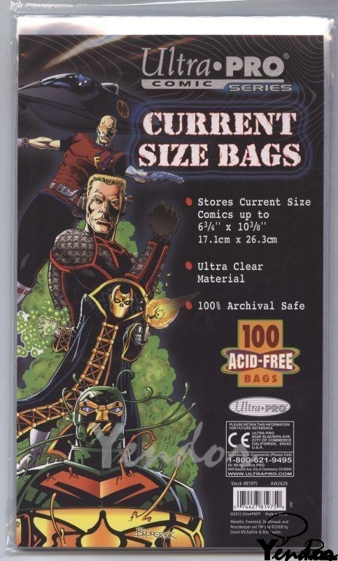 10x Current size comic bags