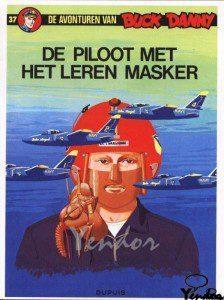 De piloot met het leren masker