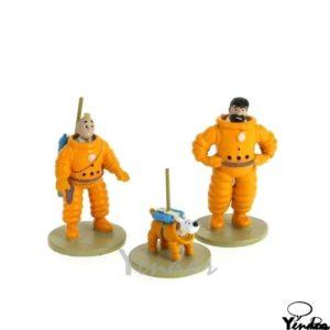 Kuifje, Bobbie en Haddock in ruimtepak