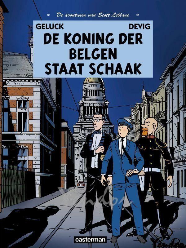 De koning der Belgen staat schaak