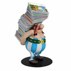 Obelix met boeken
