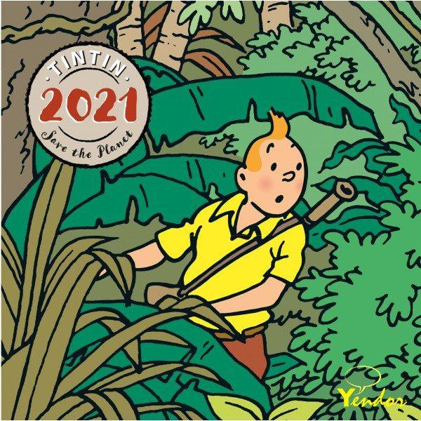Kuifje staande kalender klein 2021
