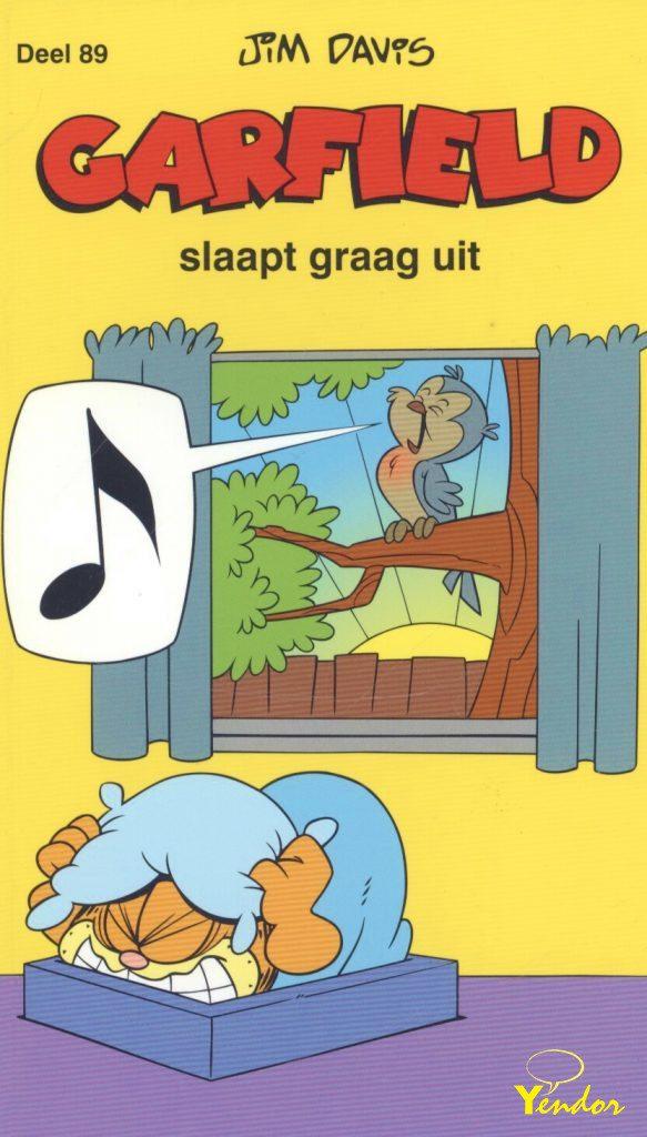 Garfield slaapt graag uit