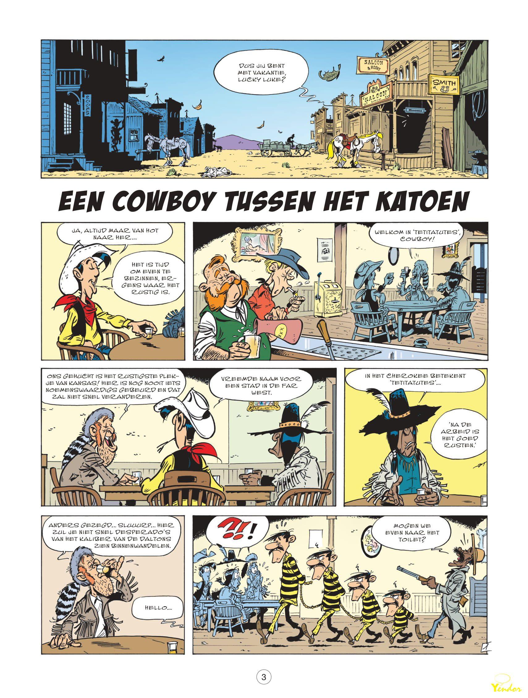 Lucky Luke, nieuwe avonturen van (Lucky comics) 9 - Een cowboy tussen het  katoen | Jul
