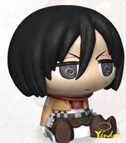 Aanval op Titan: Mikasa Chibi-spaarpot