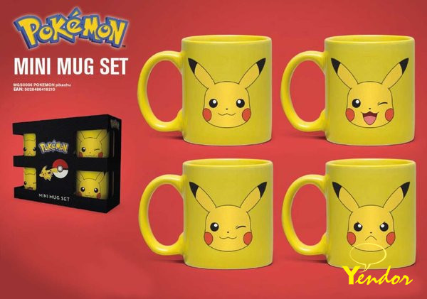 Pokemon Pikachu Mini Mokken Set